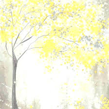 yellow and grey painting yellow grey wall art yellow and gray tree painting by intended for yellow and grey painting