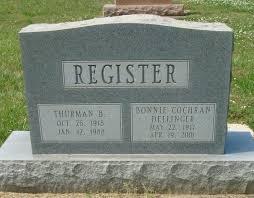 Bonnie Leona Cochran Register (1917-2001) - Find A Grave Memorial