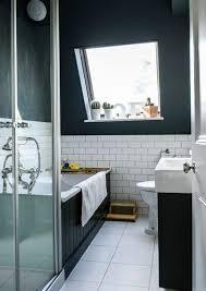 dark blue bathroom cozy ideas midnight and white