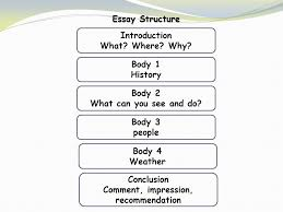 essay structure introduction what where why body history  2 essay structure introduction