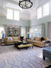 Light Blue Living Room Retro Blue Living Room With High Ceiling Light For Chic Lookretro