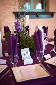 plum wedding decor at Vista de Oro