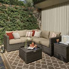 grand resort monterey pc sectional set neutral outdoor living sears patio furniture covers sears patio furniture