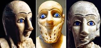 Image result for blue eyes of the gods ancient statues with blue eyes