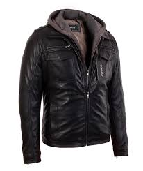 mens black er lambskin real leather jacket with hood genuine leather jackets by corbani