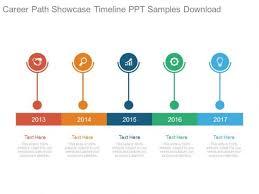 Timeline On Ppt Career Path Showcase Timeline Ppt Samples Download