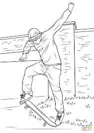 street skateboarding coloring page on skateboard coloring pages