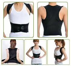 2 of 9 Men / Women Adjustable Posture Corrector Back Support Shoulder Brace Belt MEN WOMEN