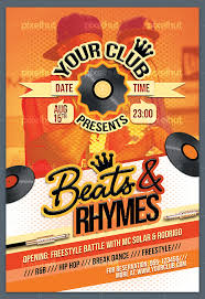 Party Flyer New A44 Beats Rhymes Party Flyer