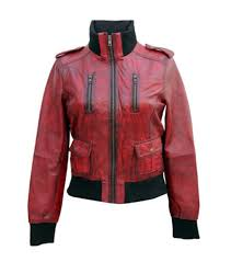 las cosmopolitan fitted fashion genuine leather women jacket front