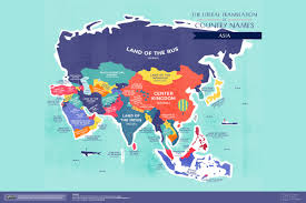Design A Country This World Map Of Literally Translated Country Names Will
