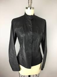 max studio black leather moto minimalist jacket 4 s