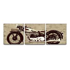 on 72 wide wall art with motorcycle 24 x 72 canvas art print triptych walmart