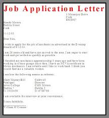 Example Of Application Letter For Employment Job Format Famous More ...