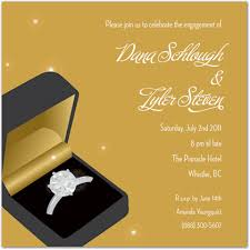 Engagement Invitation Format Mesmerizing Ring Gold Wedding Engagement Invitations Engagement Party