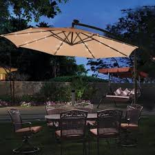 10 foot cantilever umbrella with led