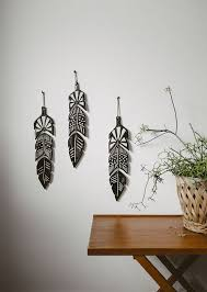 feather wall decoration would be cool to make out of foam board with ceramic wall decor designs 14
