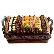 large chocolate dried fruit nut gift basket