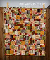 129 best Quilt Nine Patch images on Pinterest | Quilting ideas ... & The Cozy Pumpkin - Completed Disappearing 9 Patch from the Newbie Quilt -Along Adamdwight.com