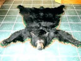 bear skin rug faux with head blanket real rugs black fake fur for nursery f