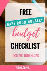 baby room checklist. Free Baby Room Nursery Budget Checklist Printable