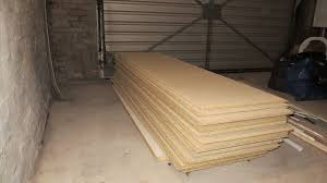 2400mm x 600mm tongue and groove chipboard flooring 18mm thick loft boards floor boards