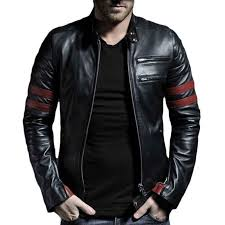 leather jacket black leather jacket biker leather jacket leather jacket with straps the cuffs has zipper