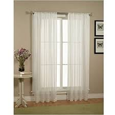 window with white curtains. Beautiful Window Amazoncom Elegant Comfort 2Piece Solid White Sheer Window Curtainsdrapepanelstreatment  Size 60 Intended With Curtains