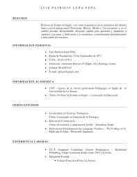 Formato Para Curriculum Vitae Basico Make A Resume From Linkedin
