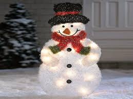 Lighted Snowman Yard Decoration \u2014 Accessories Design : 12 Creative