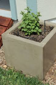 diy concrete planters water source
