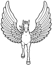 High Quality Pegasus Coloring Page To Print For Free