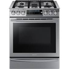 samsung range. samsung 30 in. 5.8 cu. ft. slide-in gas range with self-cleaning convection oven in stainless steel-nx58h9500ws - the home depot g