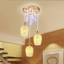 Us 670 Marke Neue Kristall Esszimmer Pendelleuchte Moderne Goldene Chrome Lampenschirm Flur Flur Galerie Anhänger Lampe Leuchte In Pendelleuchten