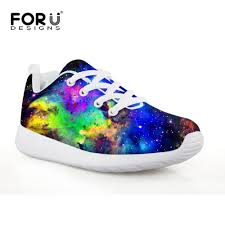 Galaxy Design Shoes Forudesigns Galaxy Comfortable Running Sneakers For Boys Sport Athletic Outdoor Shoes Flat Lightweight Space Design Shoe For Kid