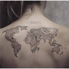 world map tattoo outline tattoos pinterest inside of the