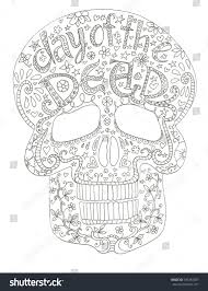 Day Of Dead Skull Coloring Pages New Sugar Skull Day Dead Coloring