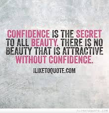 Quotes About Confidence And Beauty Best of Confidence Is The Secret To All Beauty There Is No Beauty That Is