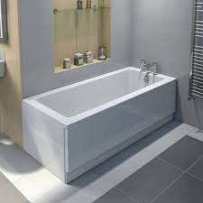 Photo 11 of 11 2 Sided Bathtub Bathtub With Two Finished Sides White  Acrylic Freestanding Bathtub With Built In Stainless