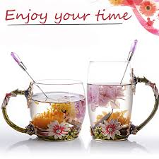 european cup office coffee. New Hand Painted European Glass Tea Water Cup Drinking Ware Glasses Home Office Coffee Milk Flower Cups Mug For Gift On Aliexpress.com | Alibaba S