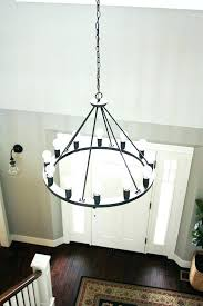 extra large chandelier frame contemporary chandeliers foyer hanging circle iron with neon lamp ch