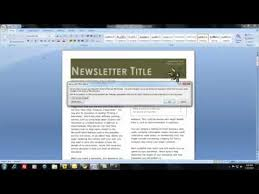 Newsletter In Word How Do I Create And Distribute A Newsletter Using Ms Word Youtube