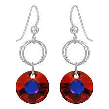 double diamond cut crystal earrings volcano