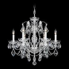 schonbek century 6 light crystal chandelier