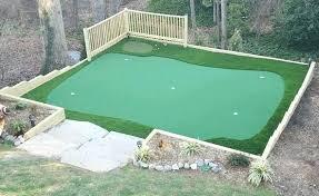 9 inspirational image to build a backyard golf green co diy indoor putting kit