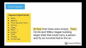 Chronology Words Use Signal Words To Clearly Show A Sequence Of Events In Your