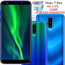 Not 7 Pro akıllı telefonlar 4G LTE Celulares 4 GB RAM 64 GB ROM Dört  Çekirdekli 13MP kamera IPS Android cep telefonları yüz KIMLIĞI Unlocked /  Cep telefonları ve aksesuarları \ PazarAlisveris.news