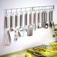 utensil hanging rack wall hanging kitchen utensil set piece stainless steel kitchen utensil set with wall