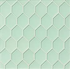 Clear Glass Backsplash Sea Mist Diamond Green Glossy Glass Tile Kitchen Backsplash