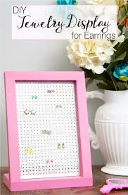 41 Easiest DIY Projects Ever - Easy DIY Jewelry Display Earrings - Easy DIY  Crafts and